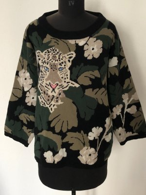 Oversize Pullover / Paul & Joe / Jacquard / Jungleprint / Größe 36-38