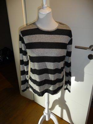 Aniston Pull oversize noir-gris polyester