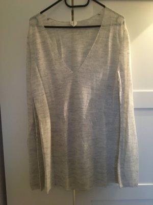 ARKET Oversized Sweater natural white-light grey polyamide
