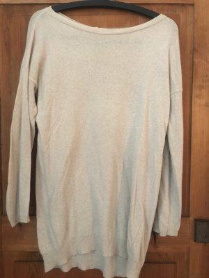 Oversize pullover,Woll-Kashmir-Gemisch,beige,Knopfleiste(Rücken)