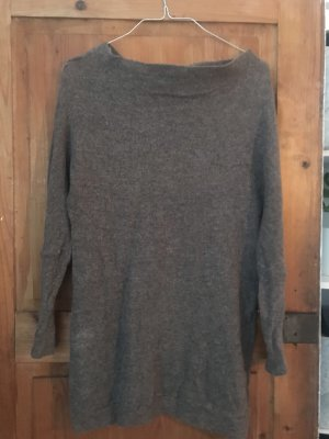 Oversize Pullover, Wolle, braun, s, mad in Italy