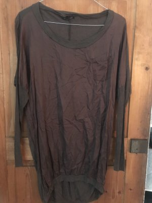 Oversize Pullover, Wolle/Seide, braun, s, incognito /Petra R