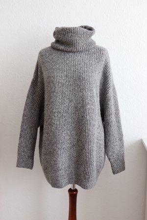 Oversize Rollkragen Pullover von Zara Größe M L 38 40 mit Wolle