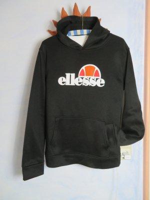 Oversize Schwarz Ellesse Hoodie Sweater Kapuzen Pulli - Größe L - Big Logo Sweater