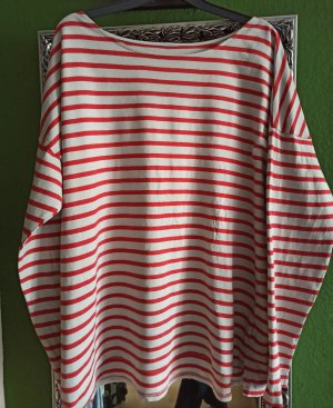 H&M Stripe Shirt white-red