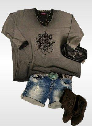 Oversized shirt veelkleurig Viscose