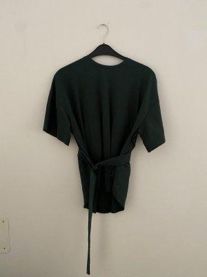 Bershka Oversized Shirt dark green