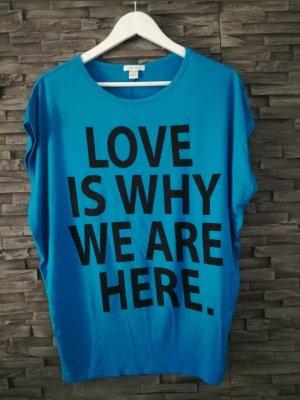 Amisu Oversized shirt blauw