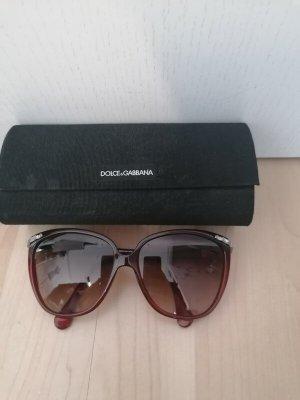 Dolce & Gabbana Gafas de sol redondas burdeos