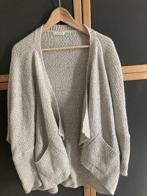 Promod Giacca in maglia grigio chiaro-crema