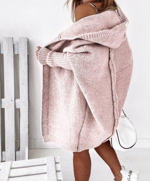 Abrigo de punto rosa claro-color rosa dorado