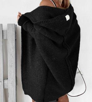 Abrigo de punto negro