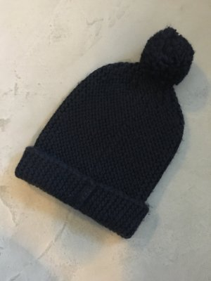 Opus Knitted Hat dark blue