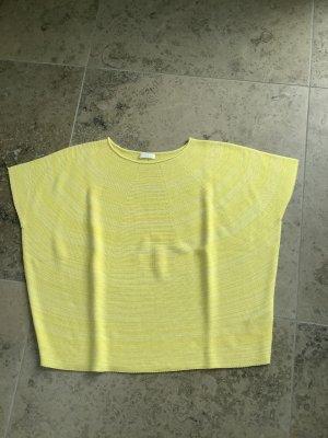 Closed Maglione a maniche corte giallo-bianco