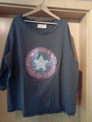 Arlette Kaballo Sweatshirt gris tissu mixte