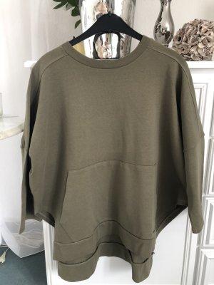 Oversize Sweatshirt / Khaki / Gr. S und M / Mango / NEU