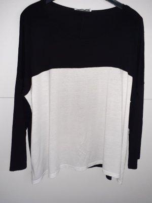 Camicia oversize bianco-nero