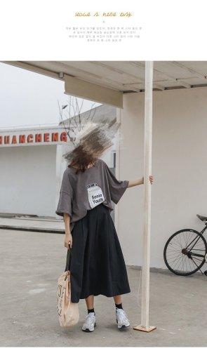 Camicia oversize grigio scuro Cotone
