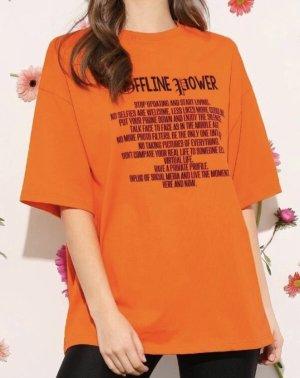 Bershka Camicia oversize arancione