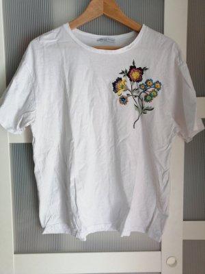 Oversize T-Shirt mit Blumen