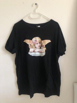 oversize T-Shirt mit Engelprint