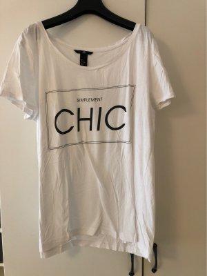 H&M Camicia oversize bianco-nero