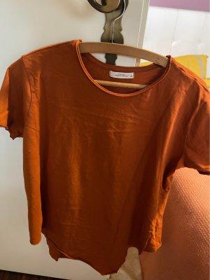 Reserved Oversized shirt donker oranje