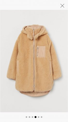 Oversize Teddy Fleece Jacke