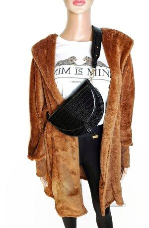 100% Fashion Kardigana z dzianiny brązowy