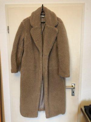 H&M Cappotto in eco pelliccia beige