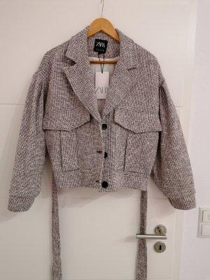 Oversize Tweed Jacke von Zara