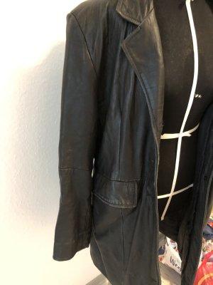 Oversize Vintage Leder Mantel