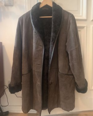 Real Vintage Płaszcz oversize brązowy-ciemnobrązowy
