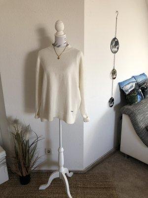 Tommy Jeans Wełniany sweter w kolorze białej wełny