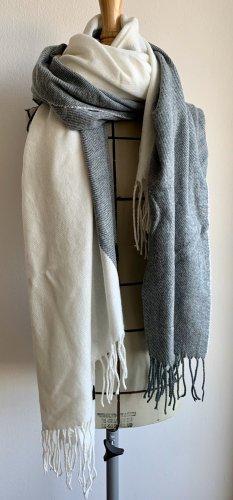 Asos Bufanda de flecos blanco puro-azul pálido