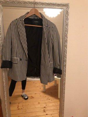 Pull & Bear Blazer stile Boyfriend nero-bianco