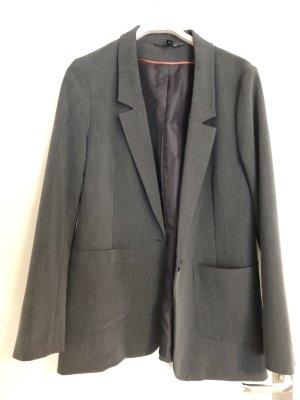 H&M Divided Blazer stile Boyfriend grigio scuro-antracite