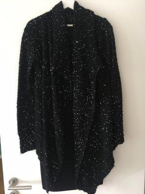Jessica Blazer tejido negro-color plata