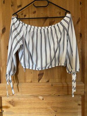 Sheinside Oversized blouse wit-zwart