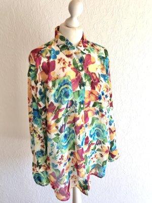 Oversized Bluse American Apparel Multicolor Blumenmuster OneSize