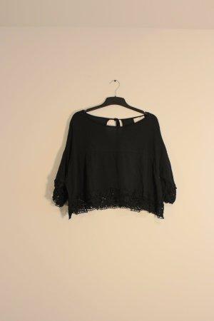 Oversized Bluse gecropped Größe M