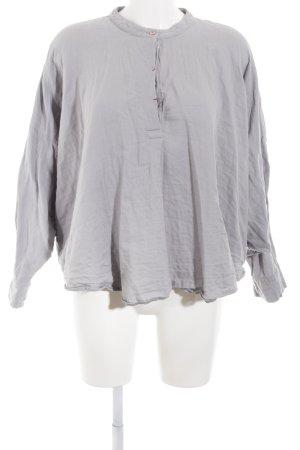 Oversized Bluse hellgrau Casual-Look