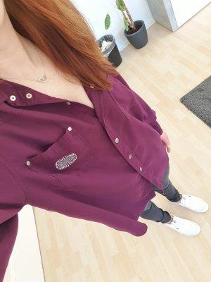 Apart Blusa ancha violeta oscuro
