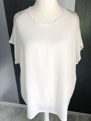 Oversized Blusenshirt • Schulter-Ziersteine Gr. 52