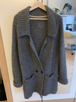 Campus by Marc O'Polo Coarse Knitted Jacket grey alpaca wool