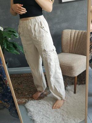 Pull & Bear Pantalone cargo bianco sporco-beige chiaro