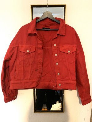 Reserved Giacca denim rosso