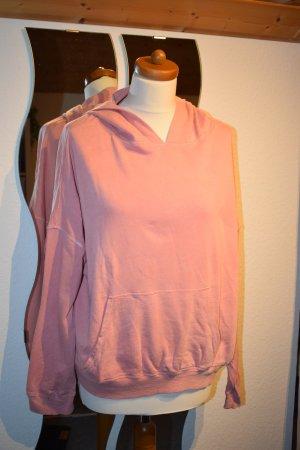 Oversized Hoodie von H&M Logg in nude / rose Gr. M