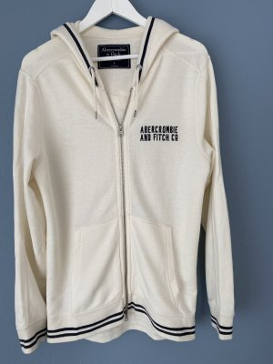 Abercrombie & Fitch Hoody natural white-dark blue