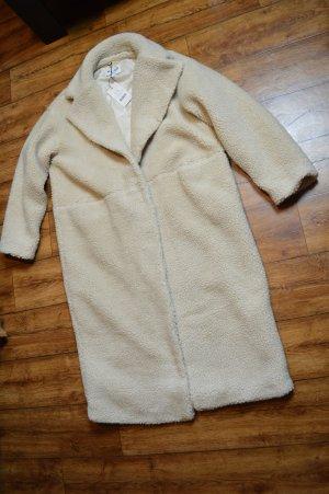 Oversized Long Teddy Mantel beige Nakd 38